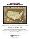 National Parks Travel Map Gift PDF