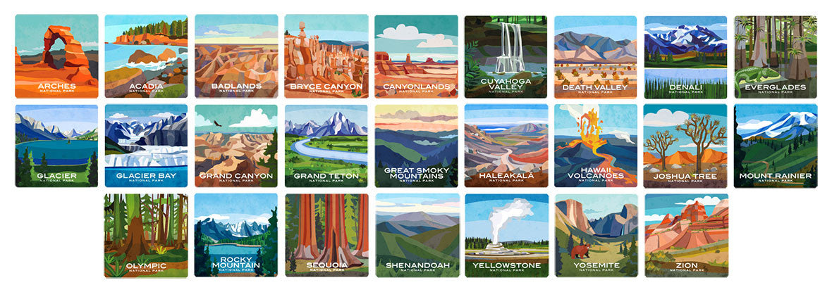 National Park Coaster Collection