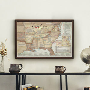 Civil War Battlefields Travel Map