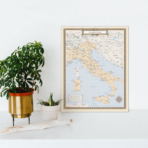 Italian Traveler Map - Print Only