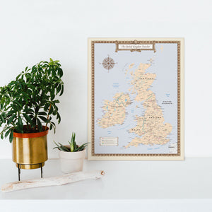United Kingdom Traveler Map - Print Only
