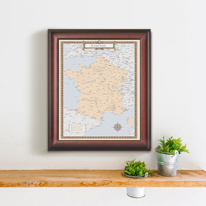 French Traveler Map
