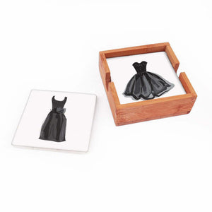 Little Black Dress Coaster Set