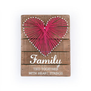 Family Heart String Art