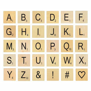 Letter Game Tile Coasters