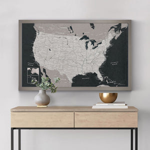 Urban Slate US Travel Map