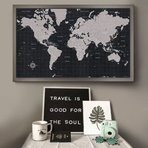 Urban Slate World Travel Map