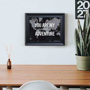 "Urban Map Framed Print ""You are my Greatest Adventure"""