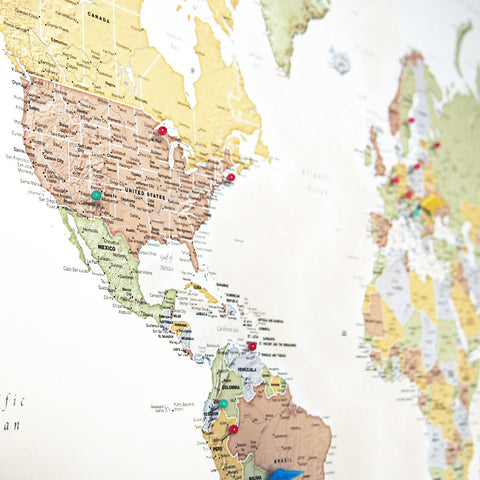 Personalized World Traveler Map – MapYourTravels.com on
