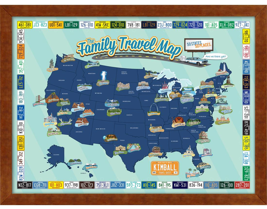 Family travel map mapyourtravels family travel map gumiabroncs Choice Image