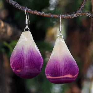 Chiang Mai Orchid Petal Dangle Earrings