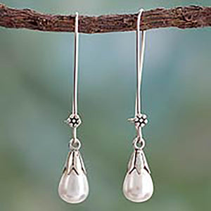 Pearl and Sterling Silver Earrings