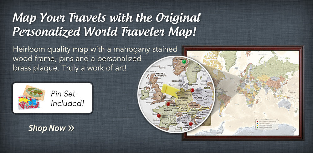 The Original Personalized World Traveler Map