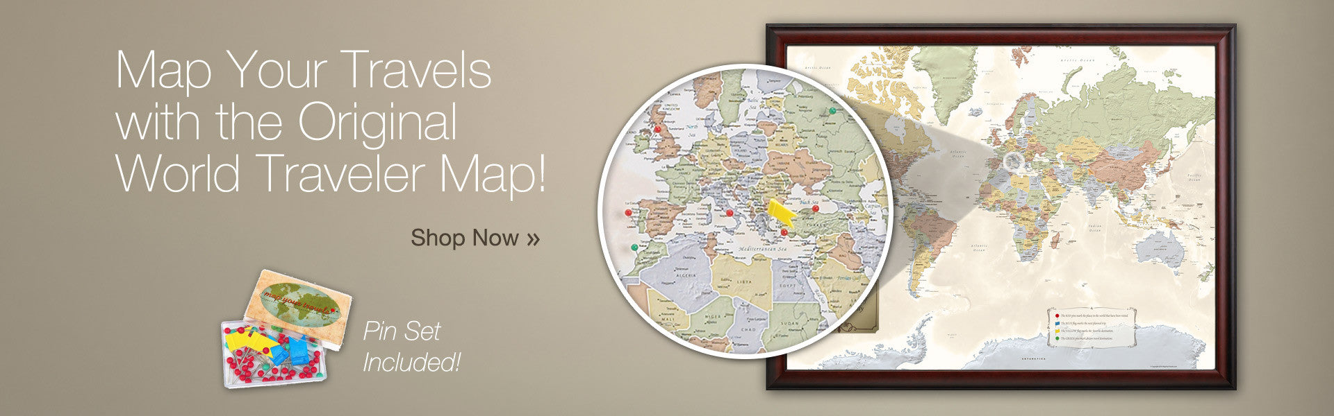 Map Your Travels with the Original World Traveler Map