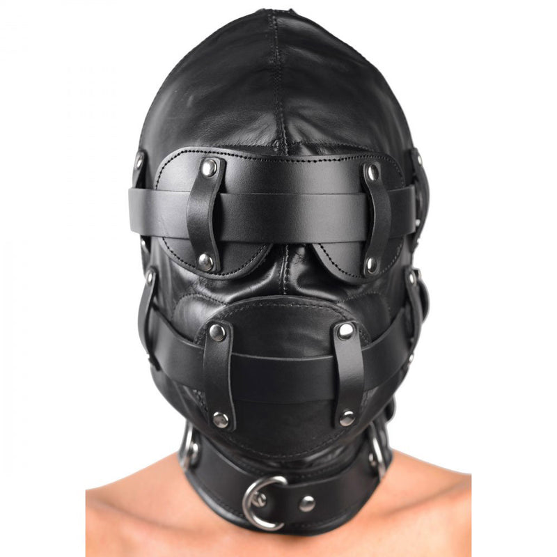 Total Lockdown Leather Hood