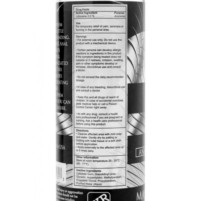 Master Series Ass Relax Desensitizing Lubricant - 4.25 oz