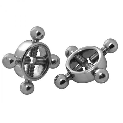 Stainless Steel Rings of Fire Nipple Press Set