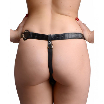 Plena Double Penetration Adjustable Strap on Harness
