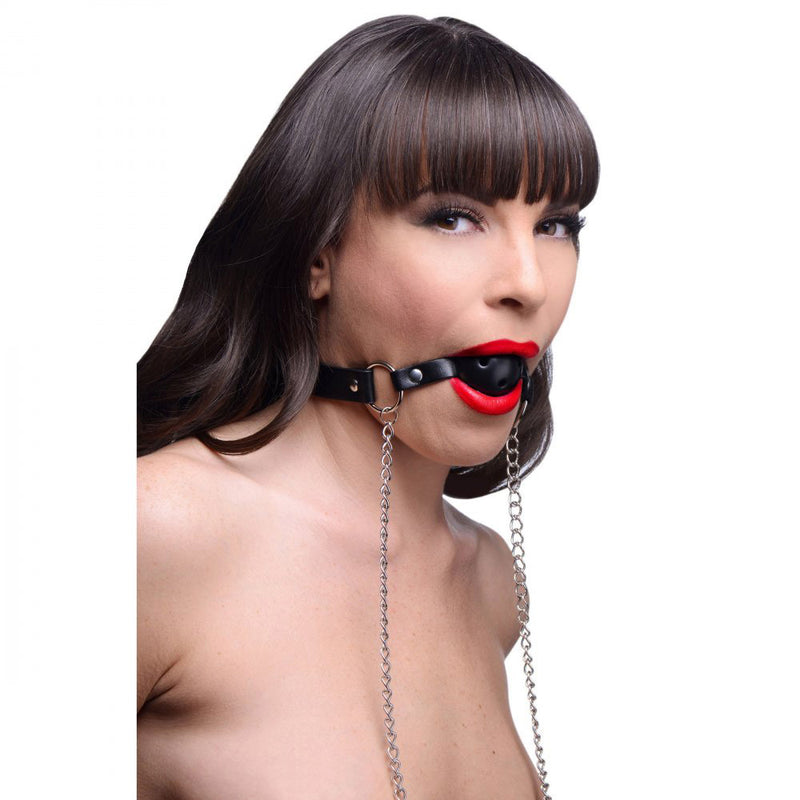 Breathable Ball Gag with Nipple Clamps