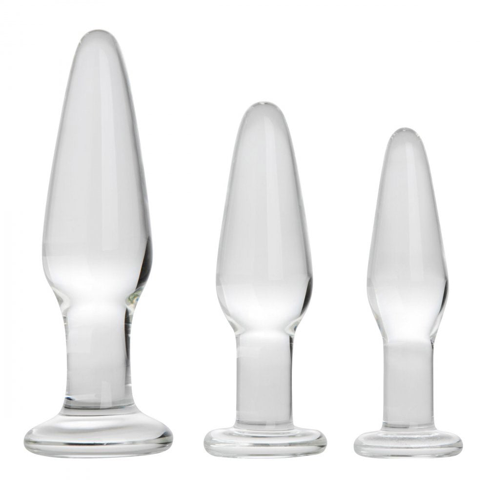 Dosha Glass Butt Plug Set 3 Pieces By XR Brands