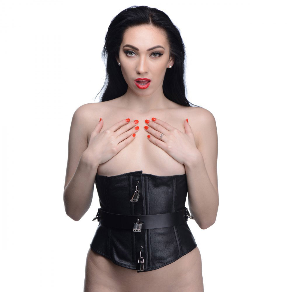 Strict Leather Locking Corset