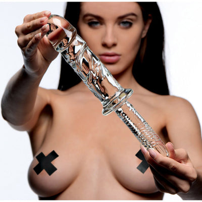Brutus Big Glass Dildo Thruster By XR Brands