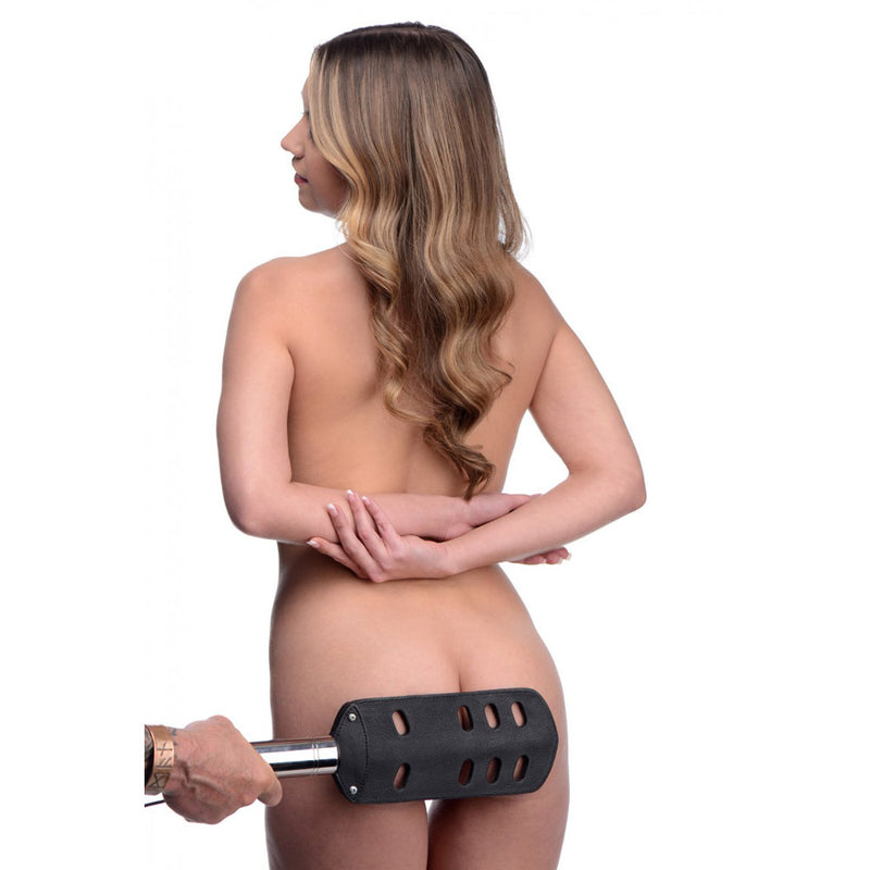 Leather BDSM Spanking Paddle With Slots