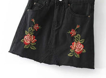 Denim Floral Skirt V6