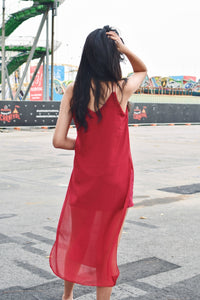 Slit Chiffon Dress