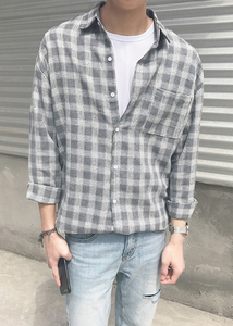 Grey Checkered Shirt