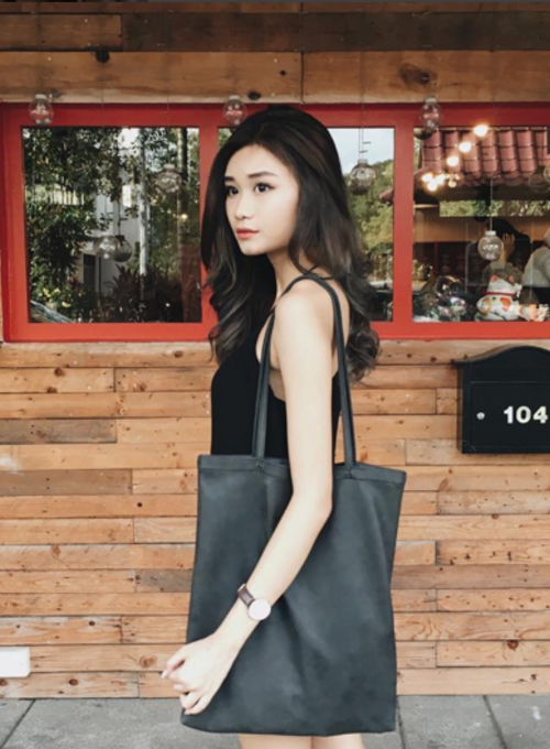 PU Tote Bag (Black)