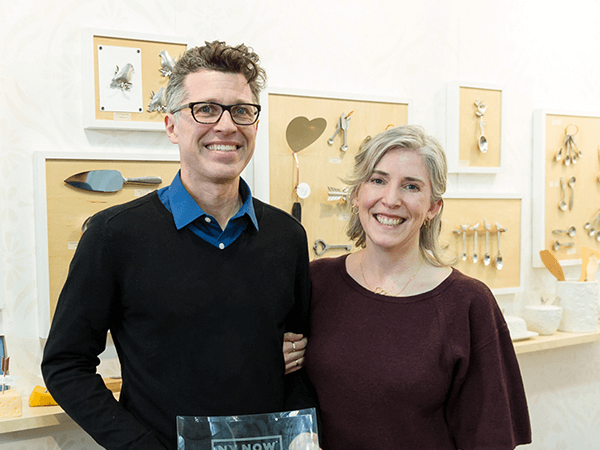 We're Sandi and Jim, and we're the artists behind every Beehive product.