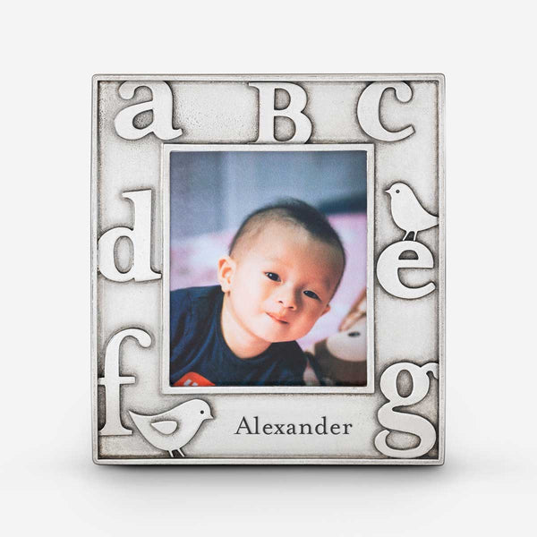 personalized baby picture frame with alphabet