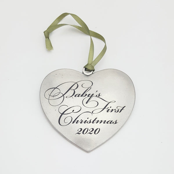 Baby's First Christmas 2020 - Heart Ornament