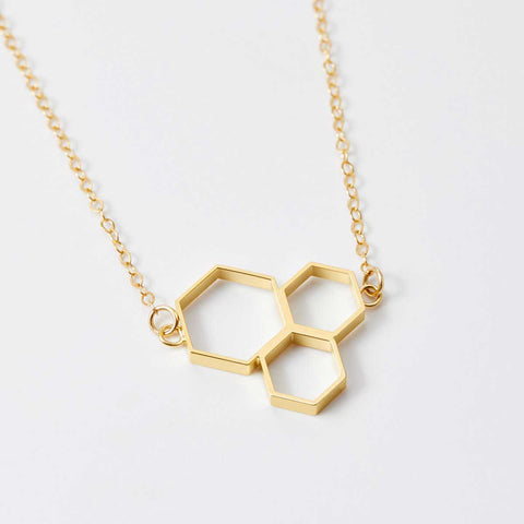 Triple Honeycomb Necklace
