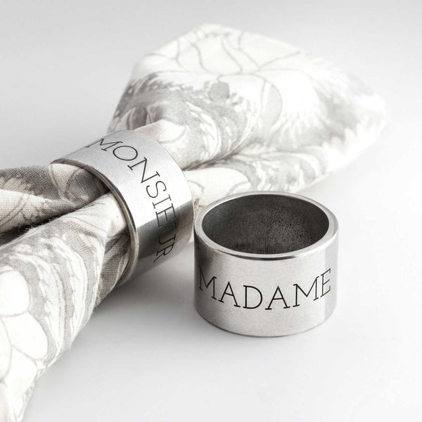 Pewter Napkin Rings Wedding Gift