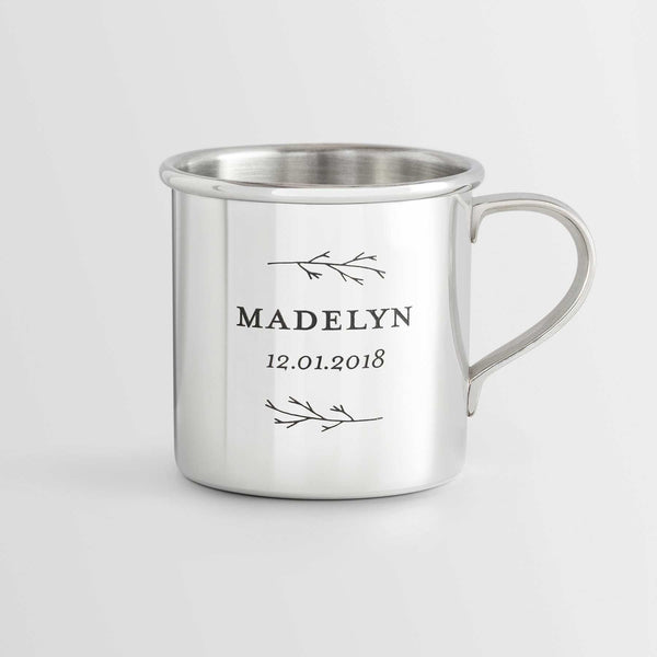 Personalized Heirloom Baby Cup - Botanic