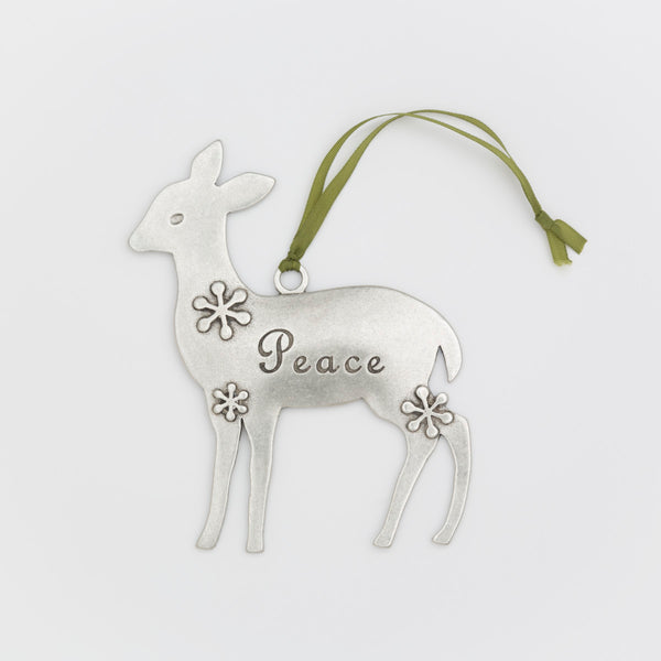 Peace Deer Ornament
