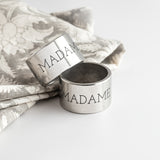 Pewter Napkin Rings Same Sex Wedding gift