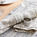 Same Sex Wedding gift pewter napkin rings