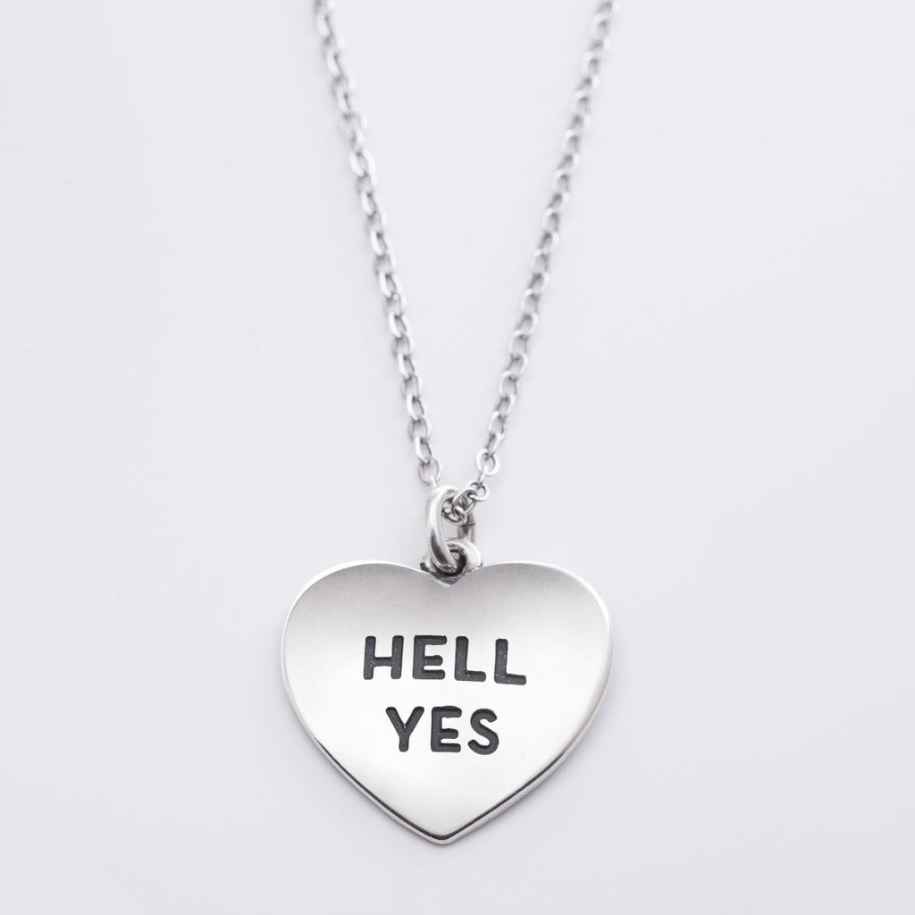 Heart Necklace - Hell Yes