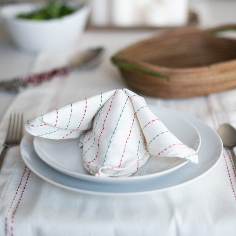 Christmas Stripe Tea Towel