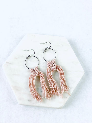Mini Macrame Earring