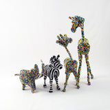 Beaded animals made by the Khutsala artisans at Heart for Africa in Swaziland