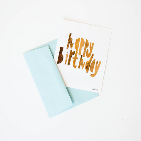 Banana Leaf Cards - Happy Birthday