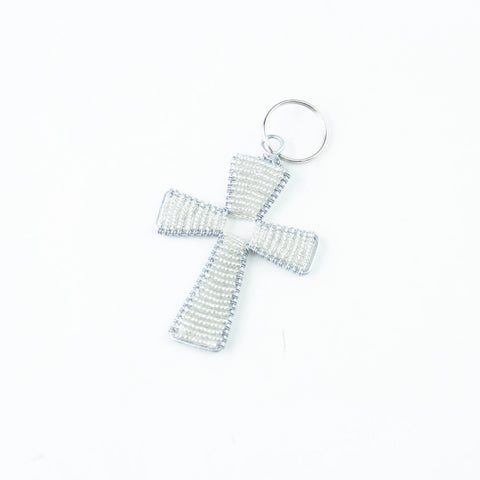 Beaded Cross Keychain