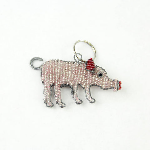 Beaded Farm Animal Keychains