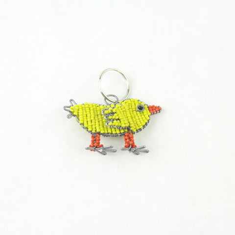 Beaded Chick Keychain
