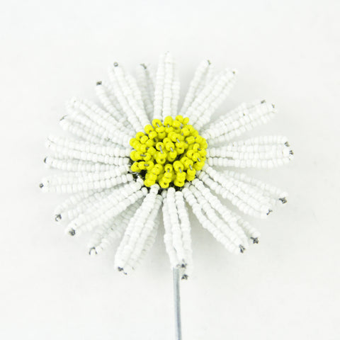 Beaded Daisy Plant Stake