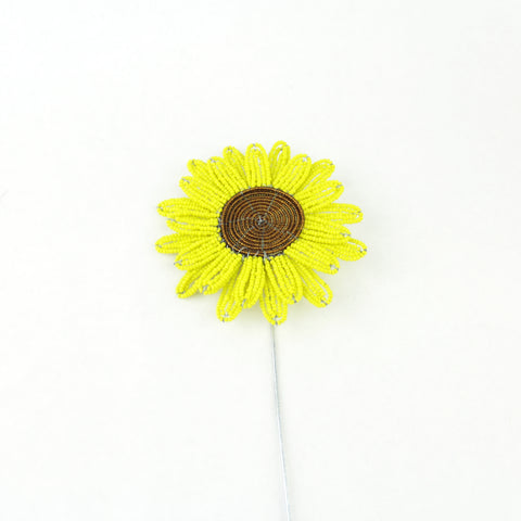 Beaded Sunflower Plant Stake